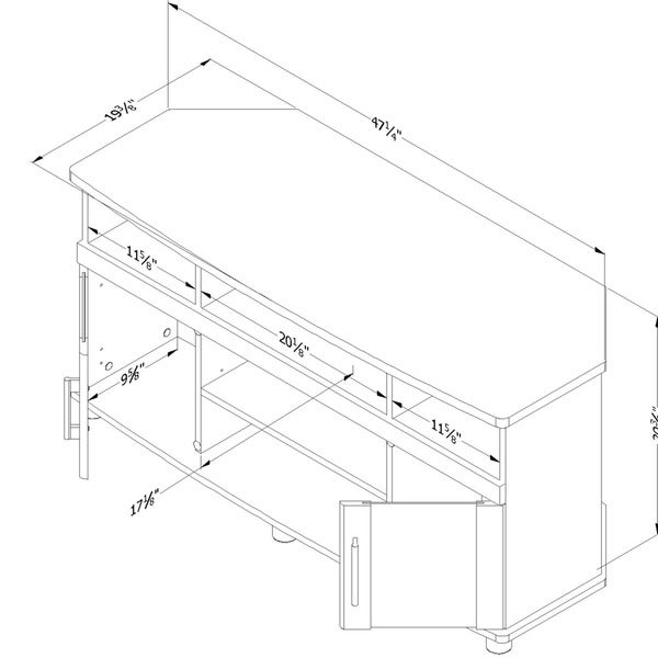 South Shore City Life TV Stand for TVs up to 50''