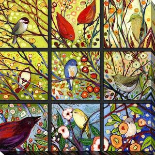 Jennifer Lommers '9 Birds I' Giclee Print Canvas Wall Art