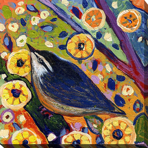 Jennifer Lommers 'Bird VIII' Giclee Print Canvas Wall Art