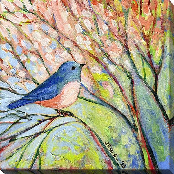 Jennifer Lommers 'Blue Bird' Giclee Print Canvas Wall Art