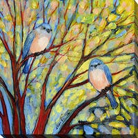 Jennifer Lommers 'Two Bluebirds' Giclee Print Canvas Wall Art