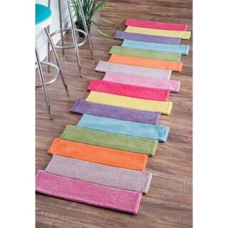 nuLOOM Handmade Kids Stripes Multi Runner Rug (2'6 x 8')