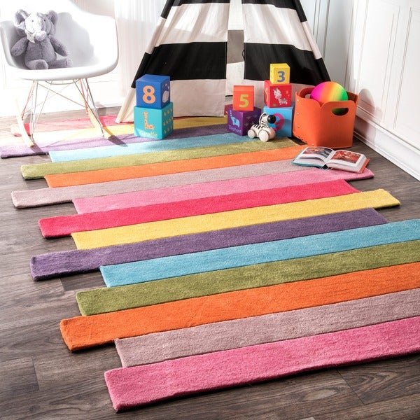 Kids Room Rugs: Shop NuLOOM Handmade Kids Stripes Multi Rug