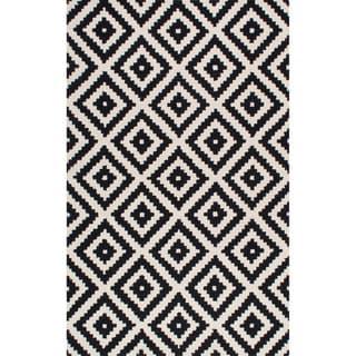 nuLOOM Handmade Abstract Wool Fancy Pixel Trellis Rug (7'6 x 9'6)