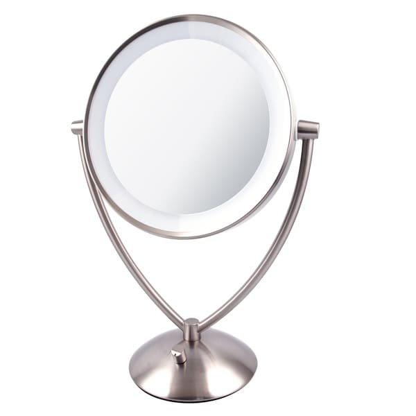 Ovente 9.5 inch Dimmable LED Lighted Tabletop Vanity Mirror - Free Shipping Today - Overstock ...