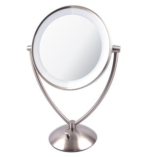 Ovente 9.5 inch Dimmable LED Lighted Tabletop Vanity Mirror