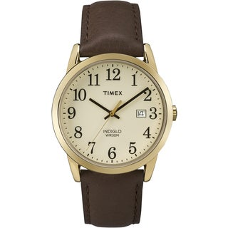 Timex Men's TW2P758009J Easy Reader Brown Leather Watch