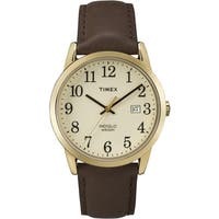 Timex Men's  Easy Reader Brown Leather Watch