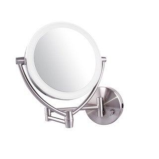 Ovente 7.5-inch Dimmable LED Lighted Wallmount Vanity Mirror