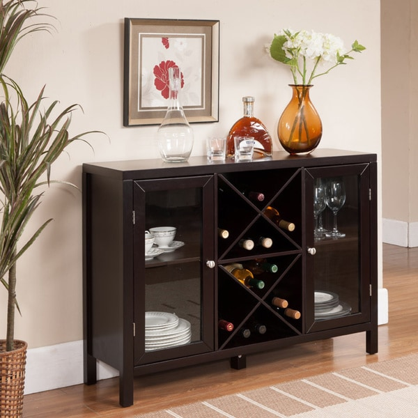 K Amp B Espresso Finish Wine Rack Free Shipping Today