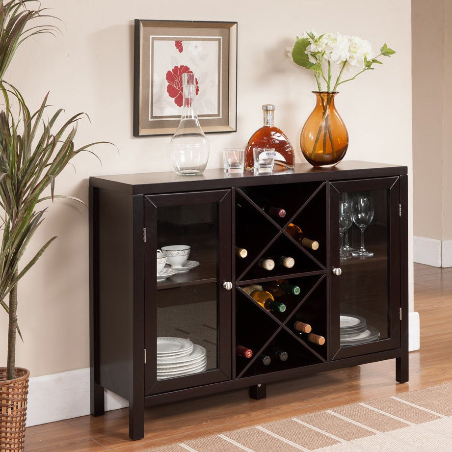 K & B Espresso Finish Wine Rack