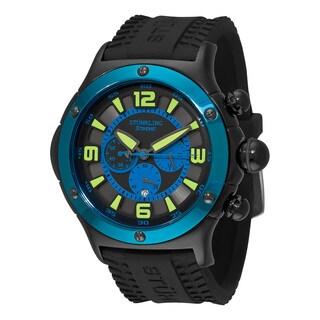 Stuhrling Original Men's Alpine Sport Chronograph Quartz Rubber Strap Watch