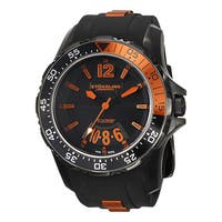 Stuhrling Original Men's Enterprise XT Swiss Quartz Rubber Strap Watch - black