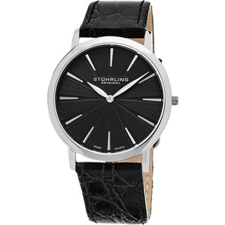 Stuhrling Original Men's Orchestra Swiss Quartz Leather Strap Watch