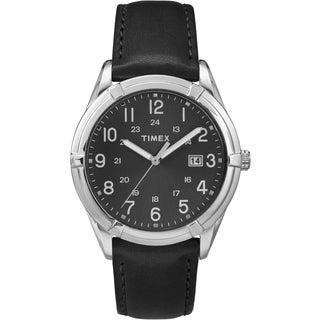 Timex Men's TW2P767009J Easton Avenue Black Leather Strap Watch
