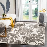 Safavieh Cottage Cream/ Grey Rug - 6'7 x 9'6
