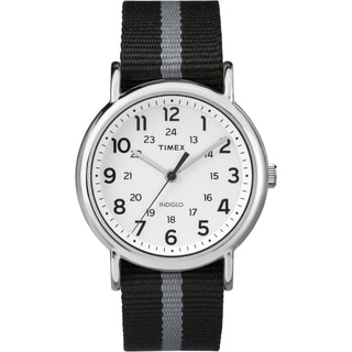 Timex Men's TW2P722009J Weekender Black Reversible Strap Watch