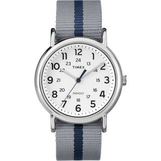 Timex Unisex TW2P723009J Weekender Gray and Blue Reversible Strap Watch