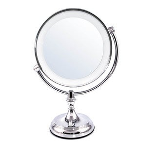 Ovente 9.5-inch Dimmable LED Lighted Tabletop Vanity Mirror