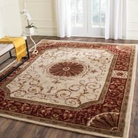 """Safavieh Handmade Empire Ivory/ Red Wool Rug - 8'3"""" x 11'"""