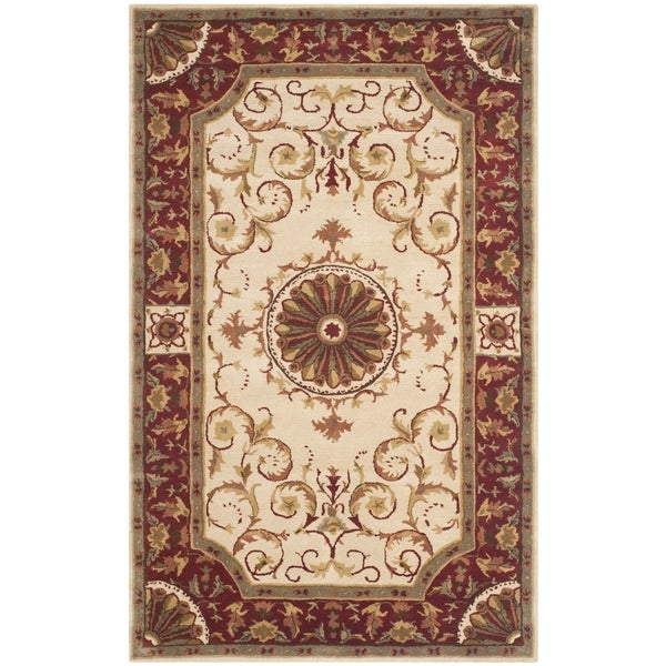 Safavieh Handmade Empire Ivory/ Red Wool Rug - 8'3 x 11'