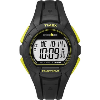 Timex Men's Ironman TW5K938009J Essential 10 Full Size Black and Yellow Watch