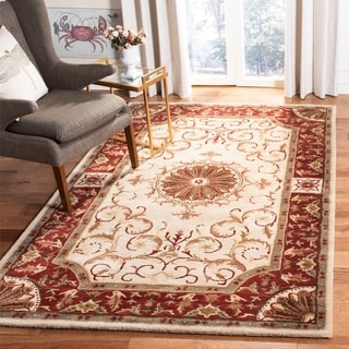 Safavieh Handmade Empire Ivory/ Red Wool Rug (6' x 9')