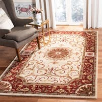 Safavieh Handmade Empire Ivory/ Red Wool Rug - 6' x 9'