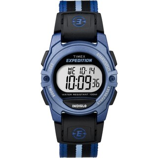 Timex Men's TW4B023009J Expedition Chrono/Alarm/Timer Black and Blue Watch