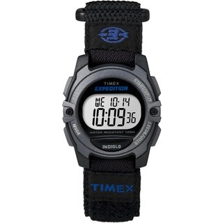 Timex Unisex TW4B024009J Expedition CAT Black Fast Wrap Velcro Strap Watch