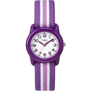 Timex Girls TW7C061009 Purple Strap Analog Watch