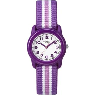 Timex Girls TW7C061009 Purple Strap Analog Watch|https://ak1.ostkcdn.com/images/products/10273523/P17389950.jpg?impolicy=medium