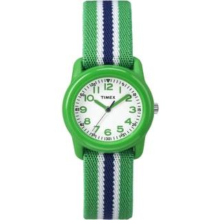 Timex Kids TW7C060009J Green Stripe Analog Watch