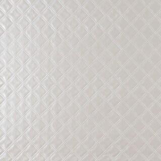 G349 Silver Shiny Metallic Diamonds Faux Leather Upholstery