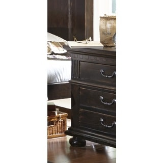 La Cantera Distressed Espresso Finish Nightstand