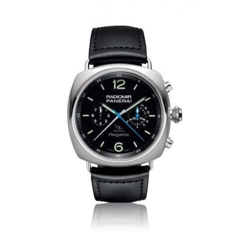 Panerai Men's PAM00343 'Radiomir' Automatic Chronograph Black Leather Watch