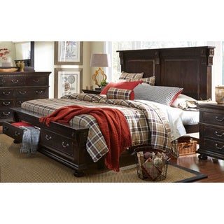 La Cantera Distressed Brown Finish Bed
