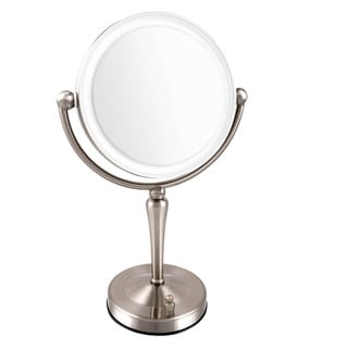Shop Ovente Dimmable Dual Sided Lighted Round Mirror With