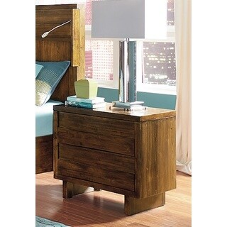North Shore Contemporary Walnut Finish Nightstand