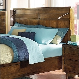 North Shore Contemporary Walnut Finish Bed
