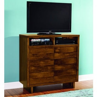 North Shore Contemporary Media Walnut Finish Chest