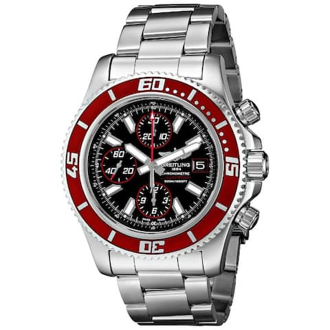 Breitling Men's A13341X9-BA81 'Super Ocean' Automatic Chronograph Silver Stainless steel Watch