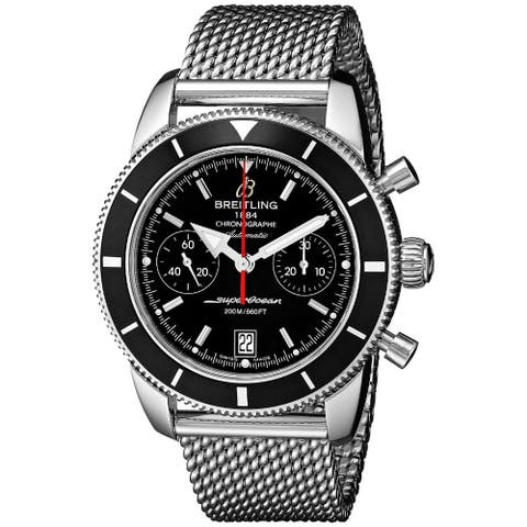 Breitling Men's A2337024-BB81 'SuperOcean' Automatic Chronograph Silver Stainless steel Watch