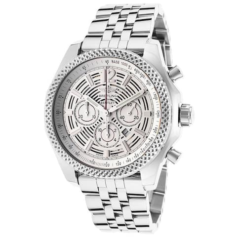 Breitling Men's A4139021-G795 'Bentley Barnato 42' Automatic Chronograph Silver Stainless steel Watc