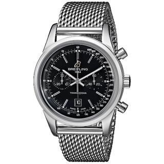 Breitling Men's A4131012-BC06 'Transocean 38' Automatic Chronograph Silver Stainless steel Watch