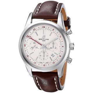 Link to Breitling Men's AB045112-G772LS 'Transocean' Automatic Chronograph Brown Leather Watch Similar Items in Men's Watches