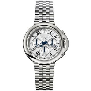 Bedat Unisex 830.011.101 'No. 8' Automatic Chronograph Silver Stainless steel Watch