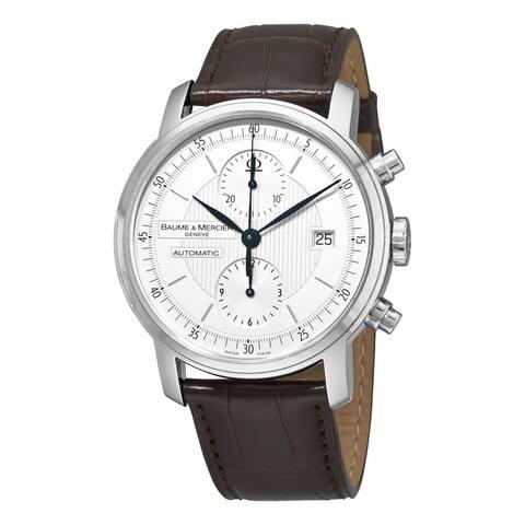 Baume & Mercier Men's MOA8692 'Classima' Automatic Chronograph Brown Leather Watch
