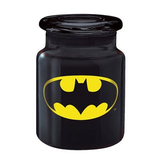 Batman Logo 6-ounce Black Metal Apothecary Jar