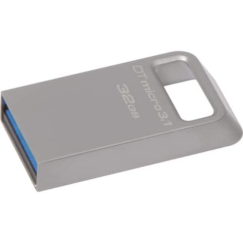 Kingston 32GB DTMicro USB 3.1/3.0 Type-A Metal Ultra-compact Flash Drive